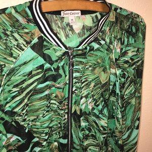 Juicy Couture Varsity Jacket Green Size Medium